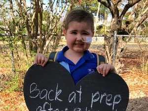 'We thought we were saying goodbye': Little boy's big battle