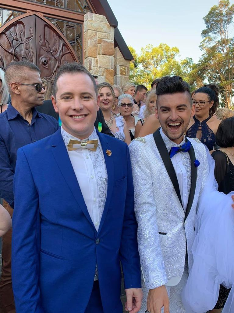 A rise in same-sex marriages is boosting the Sunshine Coast's reputation as a premier destinations for couples across Australia to tie the knot. Pictured are Jay and Jayden at Montville. Photo: Contributed