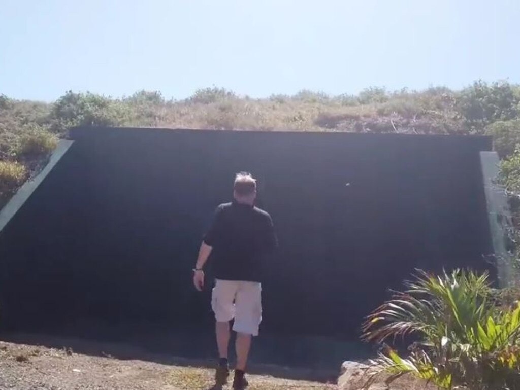 The clip also shows a bizarre underground bunker dug into the side of a mound. Picture: wearechange.org