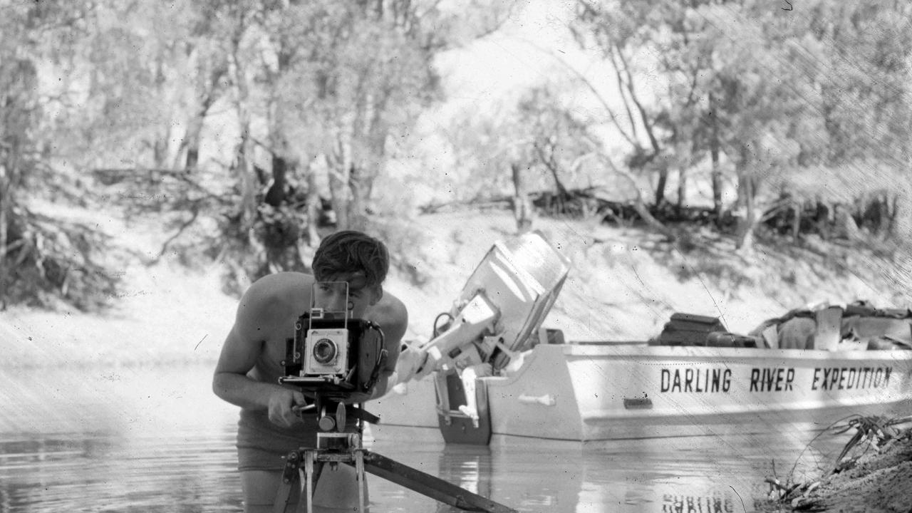 Mal Leyland films on the Darling River in 1963.