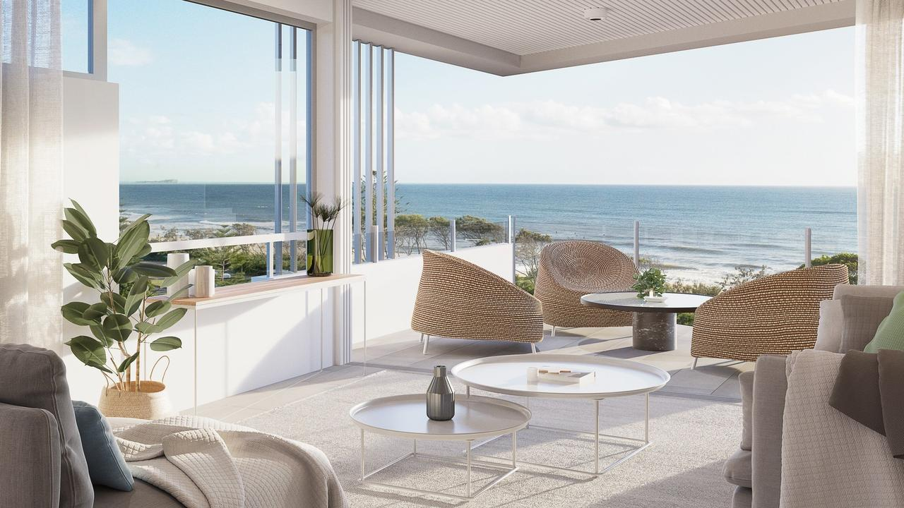 SWEEPING VIEWS: Sales interest in the soon-to-be started Beach Life Alex residential project has been strong.