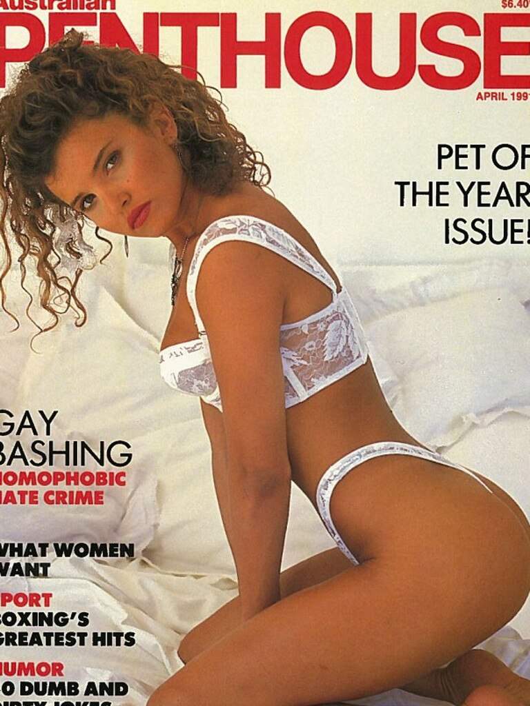 Taylor's 1991 Penthouse cover.