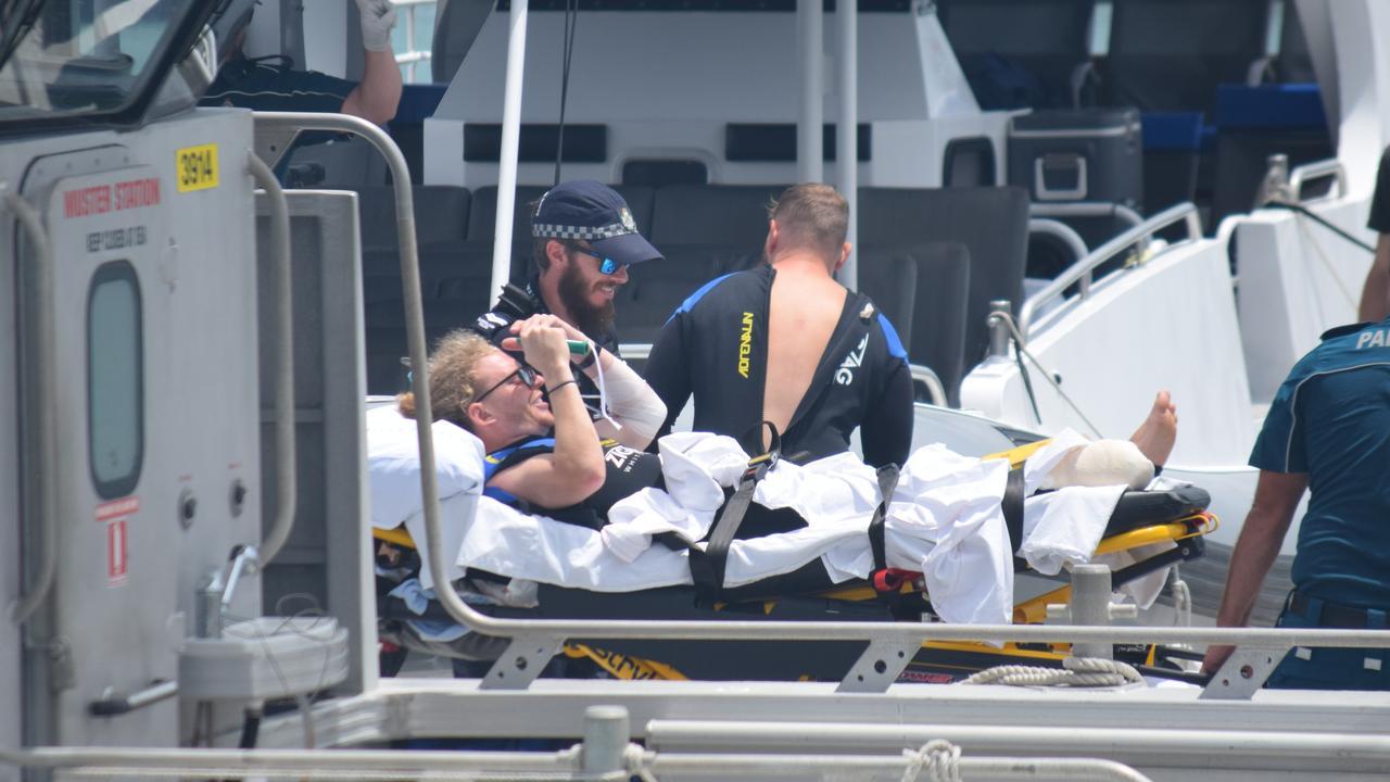Shark attack Whitsundays original images Oct, 29 2019