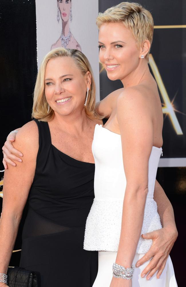 Gerda now lives around the corner from Theron in LA. Picture: Getty Images.