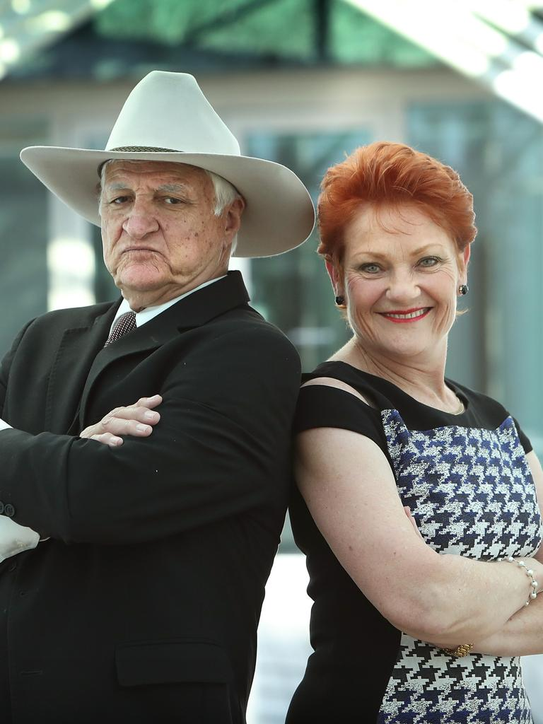 Bob Katter and Pauline Hanson are teaming up. Picture: Kym Smith