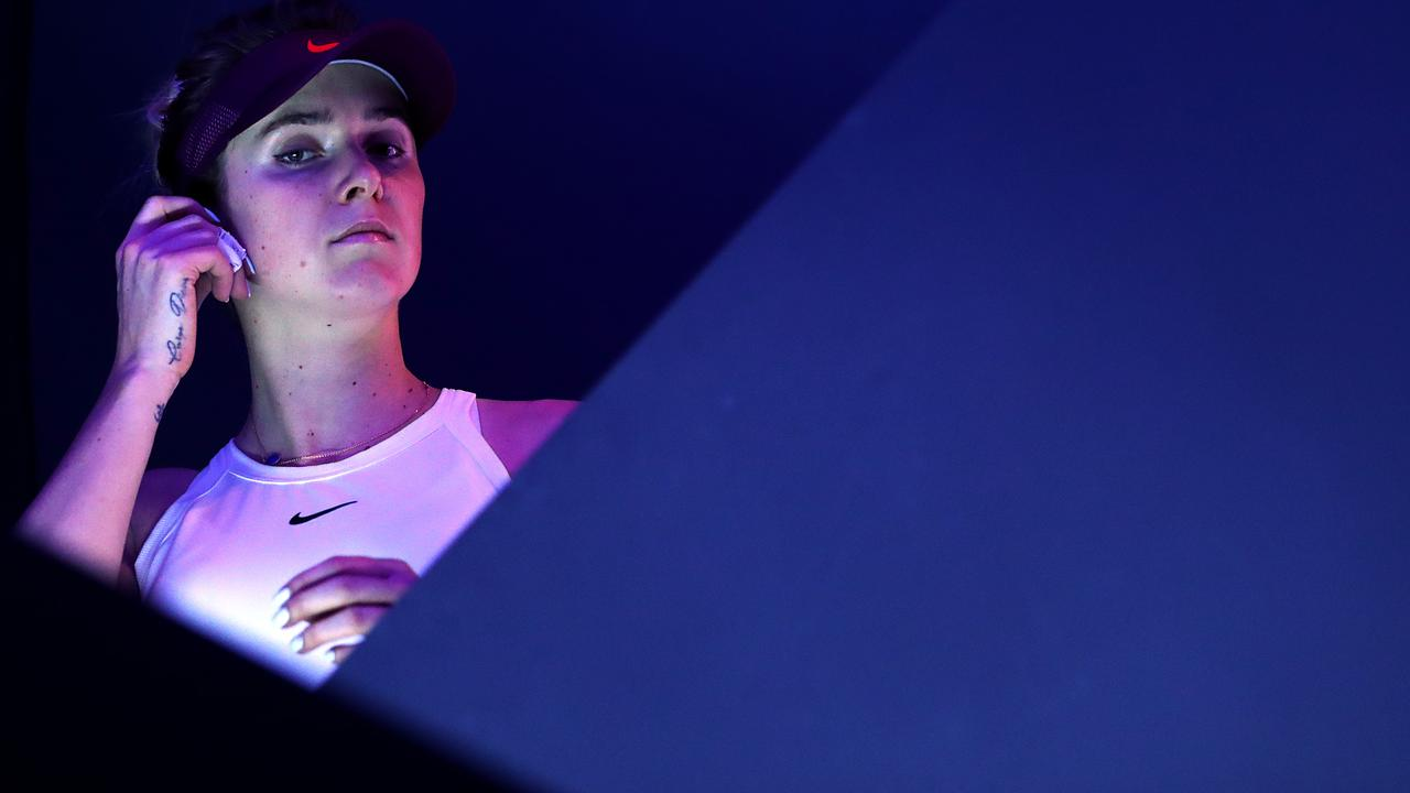 Elina Svitolina of Ukraine waits in the tunnel prior to her Women's Singles final match against Ashleigh Barty of Australia. Picture: Lintao Zhang/Getty Images