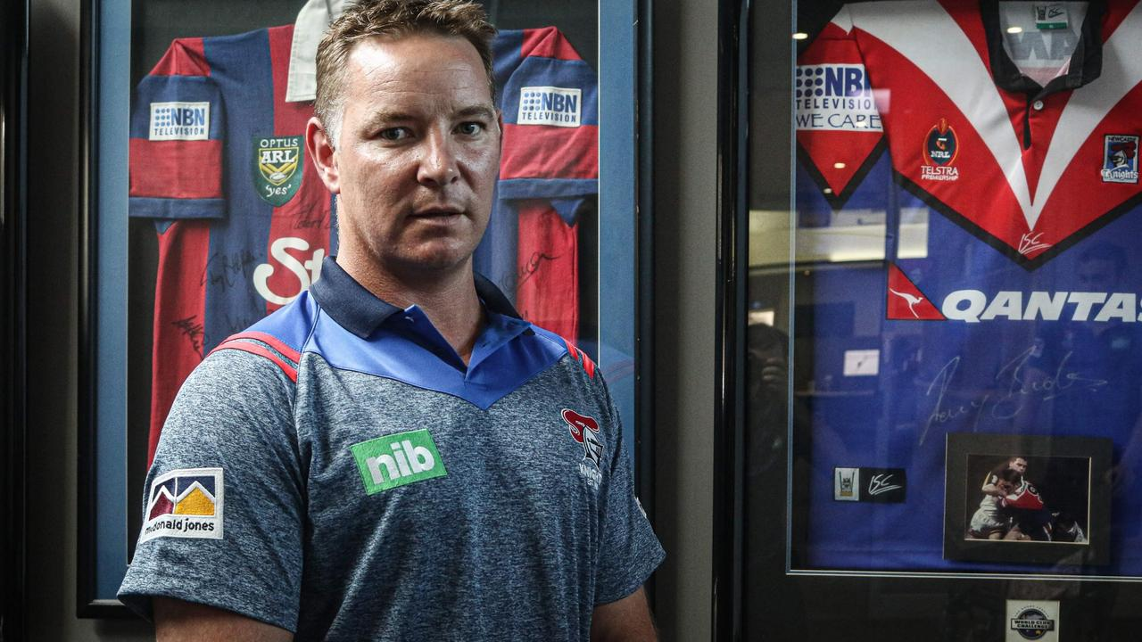Adam O'Brien takes over at the Knights this week. Picture: Newcastle Knights