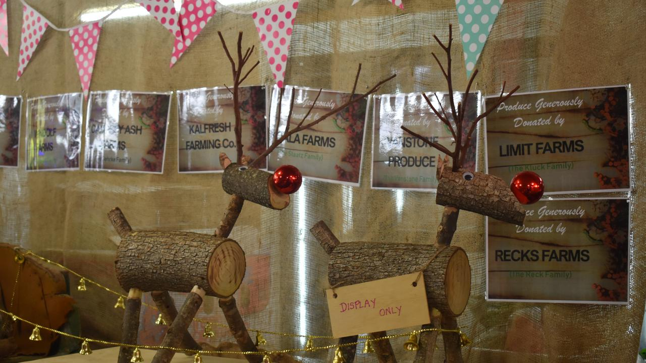 There were a range of Christmas-themed items on display, and for sale