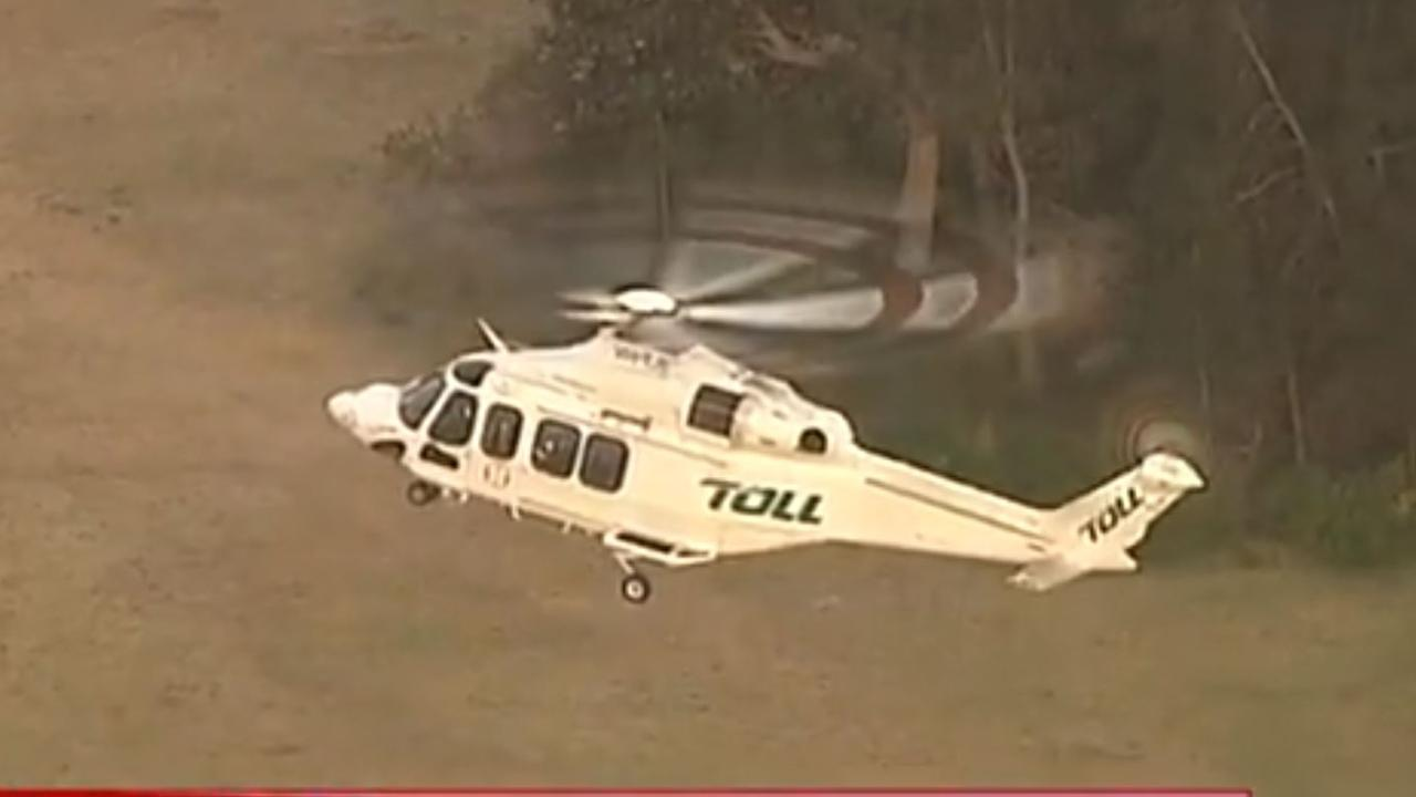The teen was airlifted to St George Hospital in a critical condition. Credit: Channel 7.
