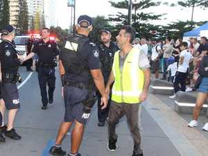 Pepper spray used after Coast protest turns violent