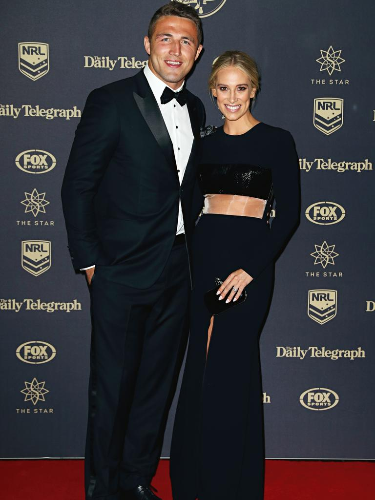 The pair went public with their romance at the 2016 Dally M Awards. Picture: Ryan Pierse/Getty Images