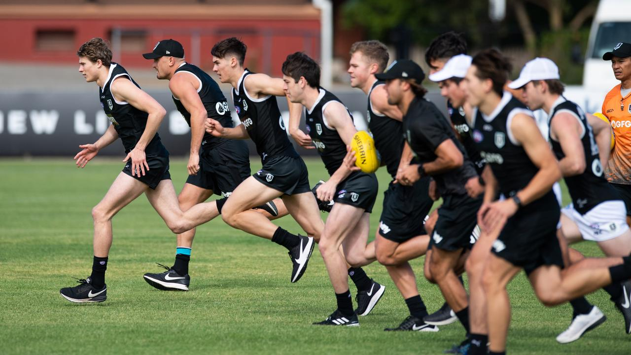 Port Adelaide's young players hit the ground running. Picture: Brad Fleet