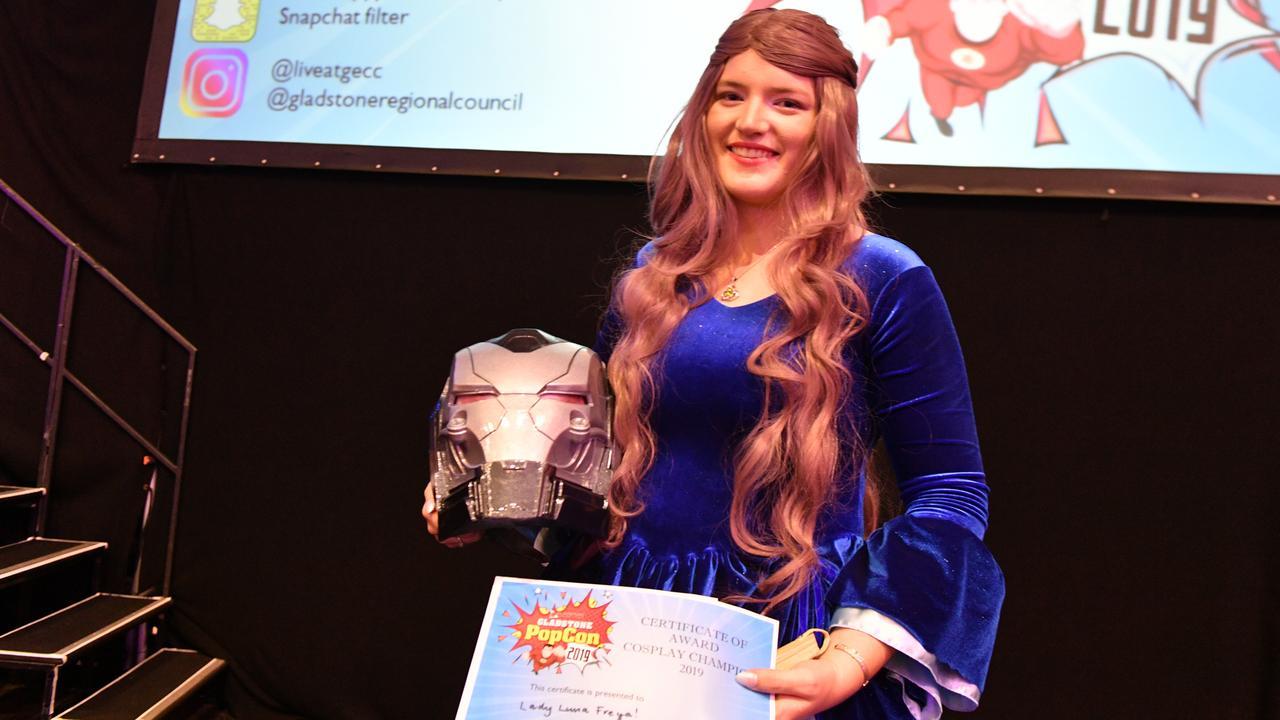 Emily Shanahan won the best cosplay award at Gladstone PopCon 2019.