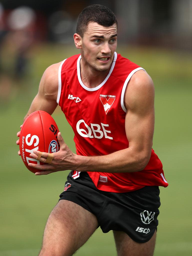 Young Swans forward Tom McCartin. Picture: Phil Hillyard