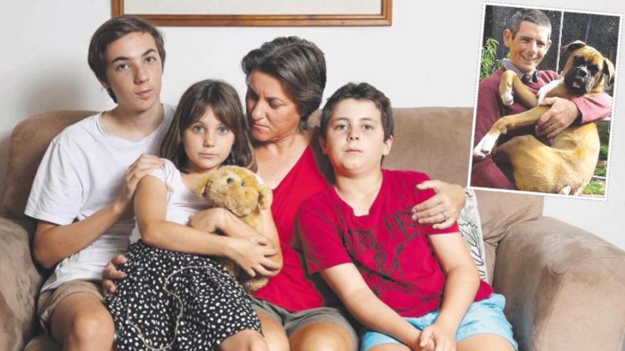 REMEMBERING CAM: Catherine Frewer has stayed strong for her children Lachlan, Heidi and Oscar in the year since her husband, Cameron's tragic death. Photo: Peter Wallis/Contributed