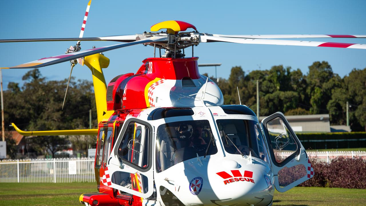 Westpac Rescue Helicopter was called to help free a man in South Murwillumbah trapped in a drain.