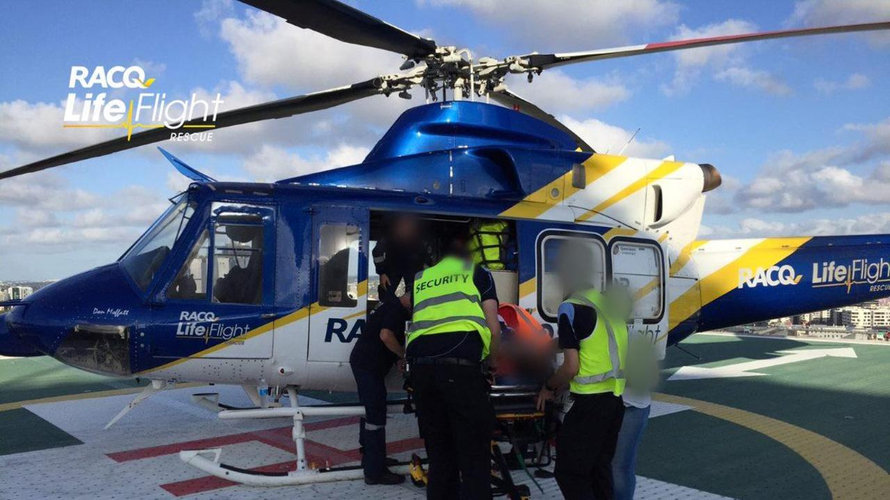 A teenage boy was flown in a serious but stable condition, after he crashed his bike near Bundaberg.