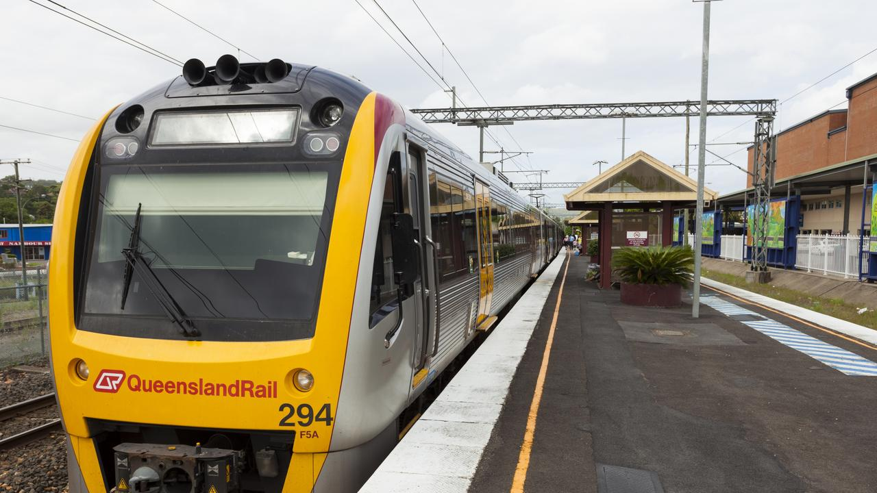 Police confronted Noel Alexander Brown, 74, when he and his young victim stepped off the train at the Nambour station.