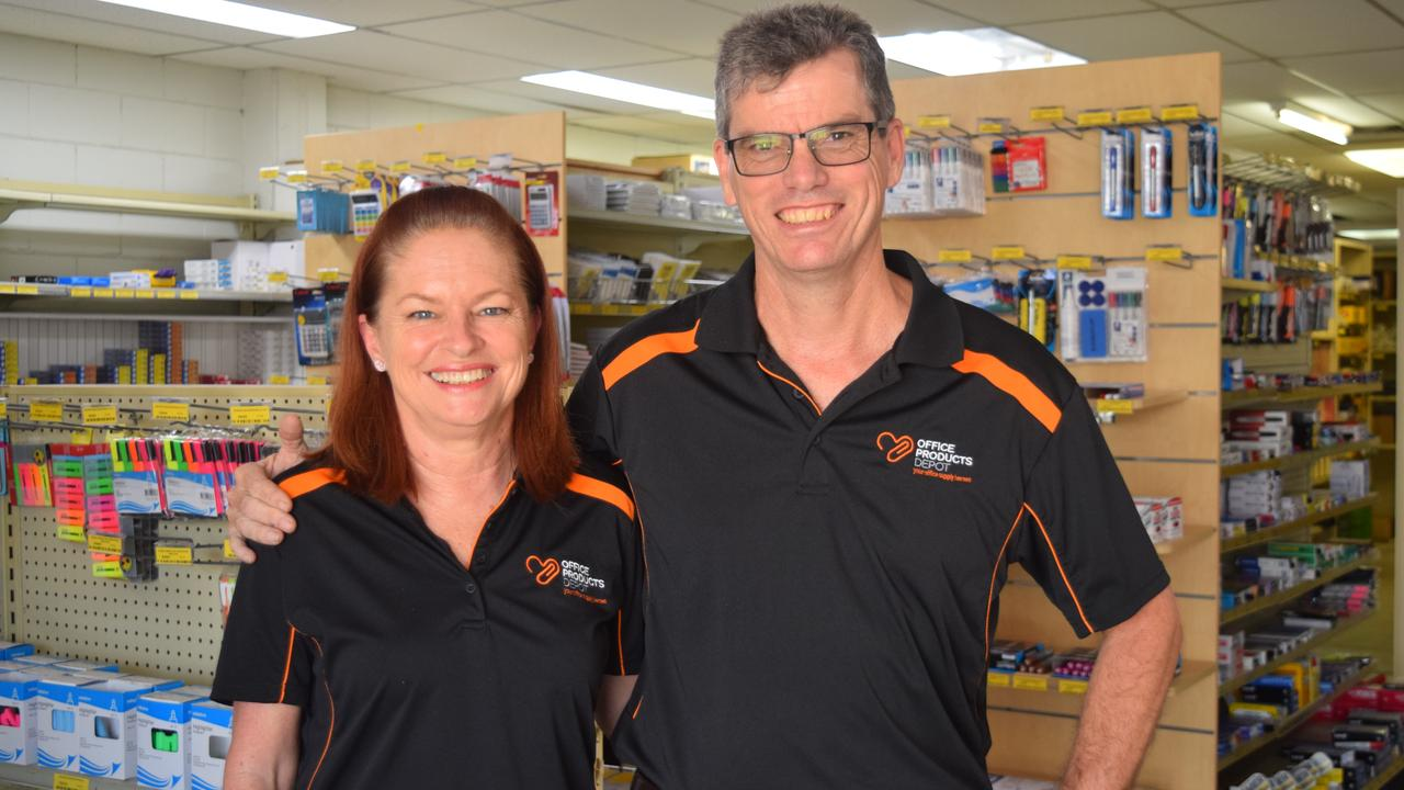 Owners of MOE Office Products Depot Mackay Debbie and Gary Minter. Picture: Rainee Shepperson