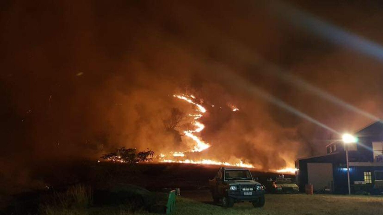 The community banded together in the face of the frightening natural disaster. Picture: Bonogin Valley Rural Fire Brigade