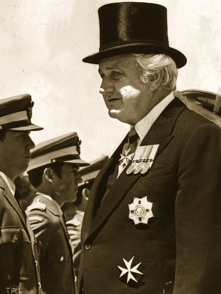 Then Governor-General Sir John Kerr.