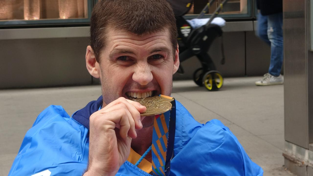 Jonathan Brown after completing the New York City Marathon. Picture: Nova100