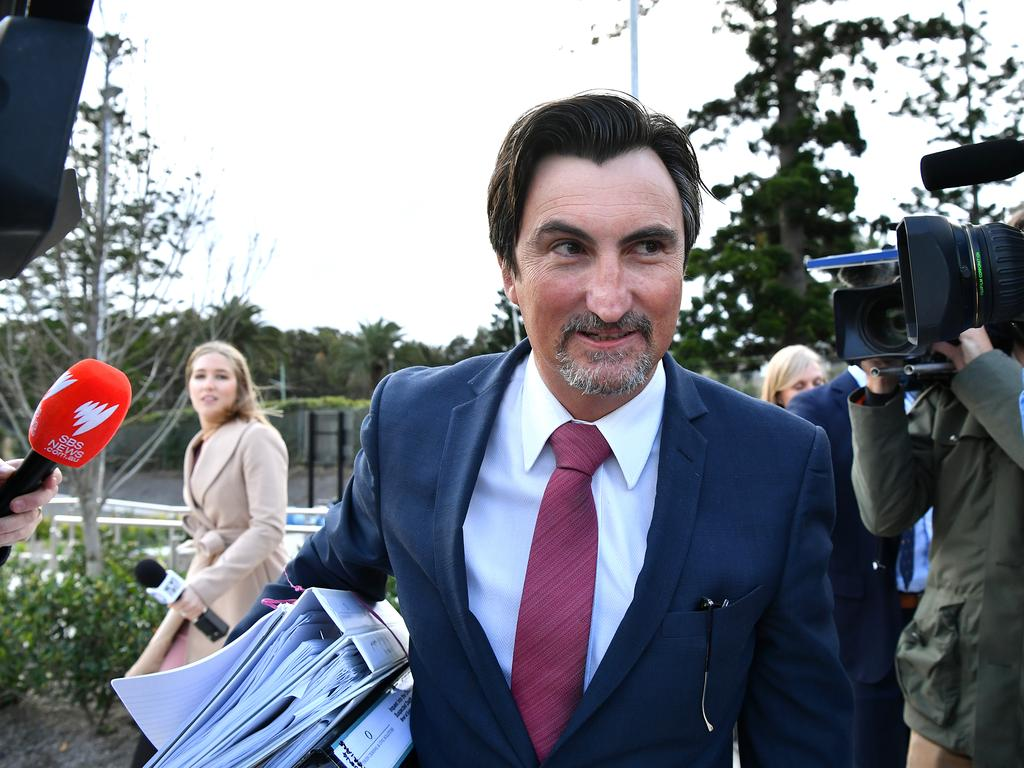Peter O'Brien, lawyer for Bill Spedding, says police were wrong about Bill Spedding's mobile phone. Picture: AAP