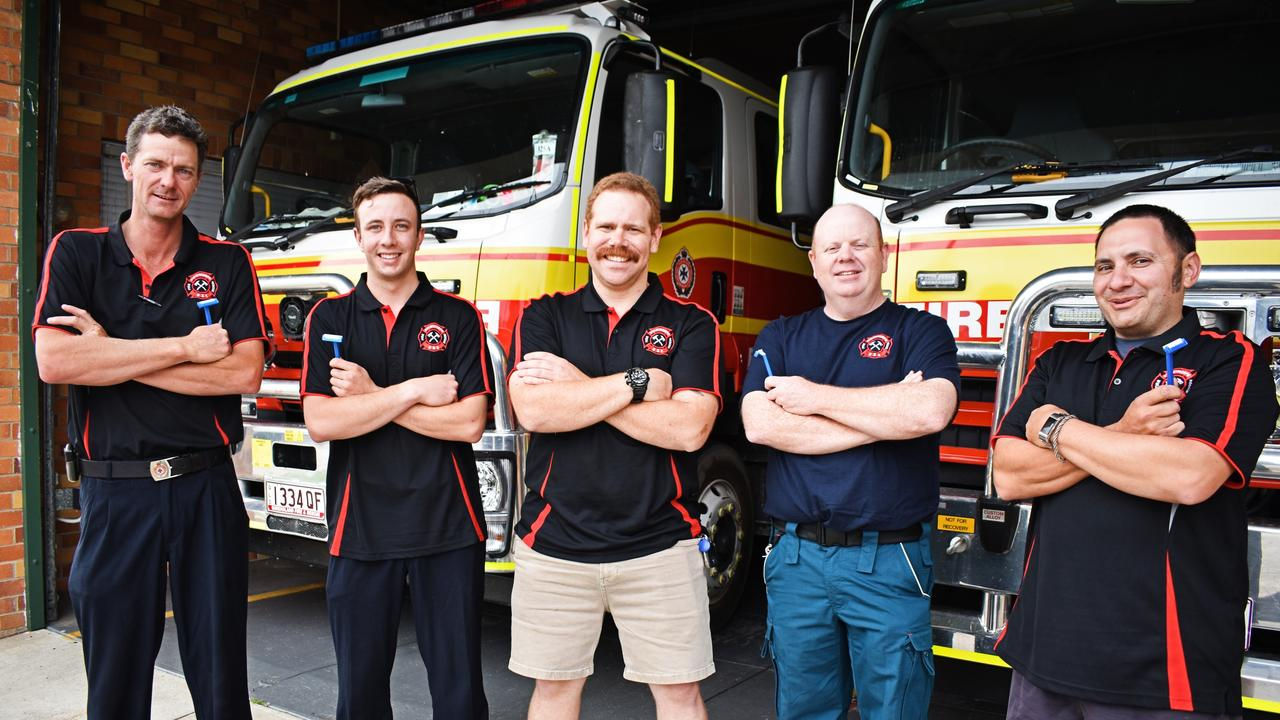 Brendon Barker, Nigel Eldridge, Reece Lancaster-Kelly, Andrew Bell and Sam Maugeri from the Stanthorpe Fire Brigade will take part in Movember.