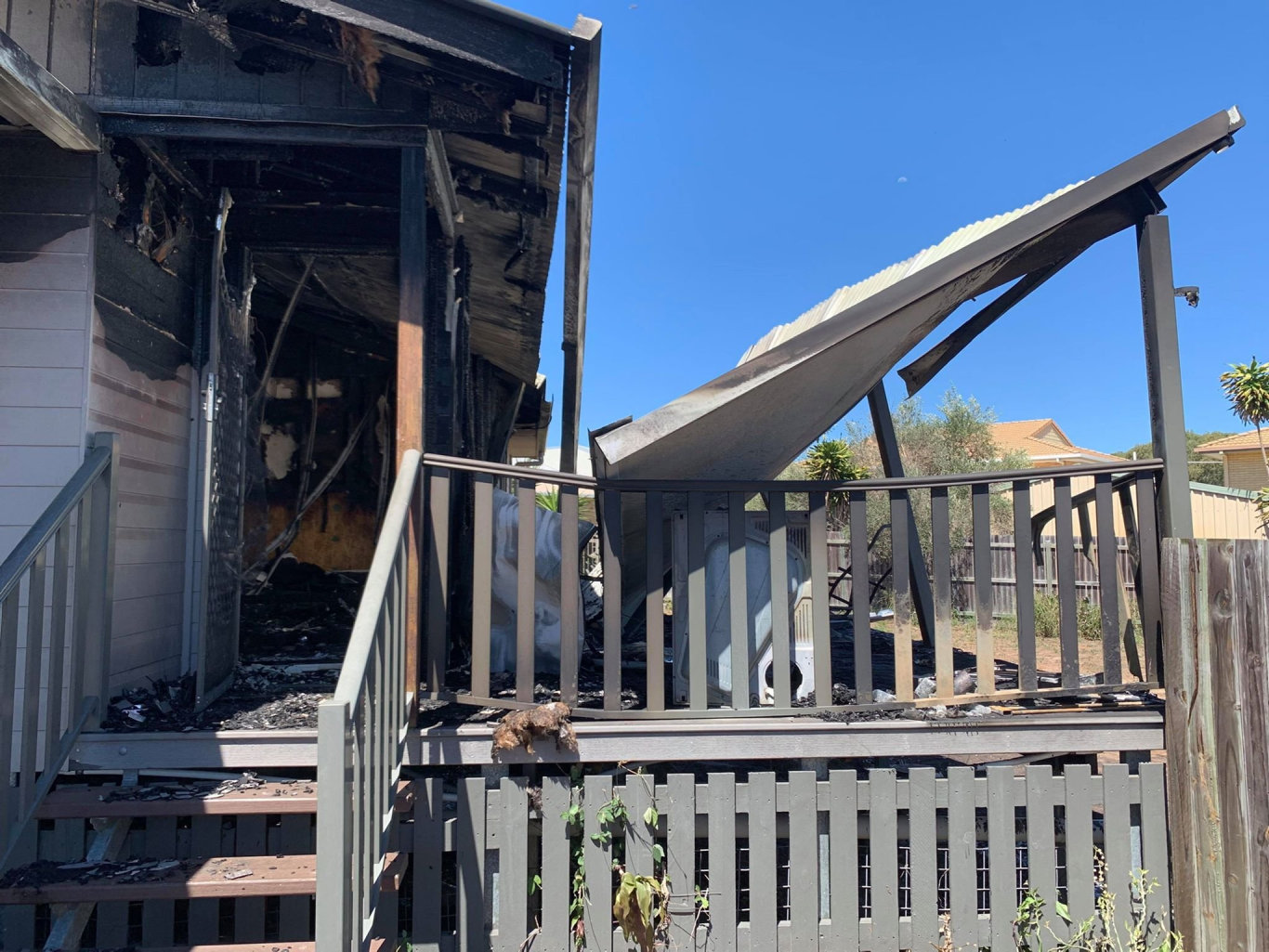 DESTROYED: A house at Woodgate has been gutted by fire.