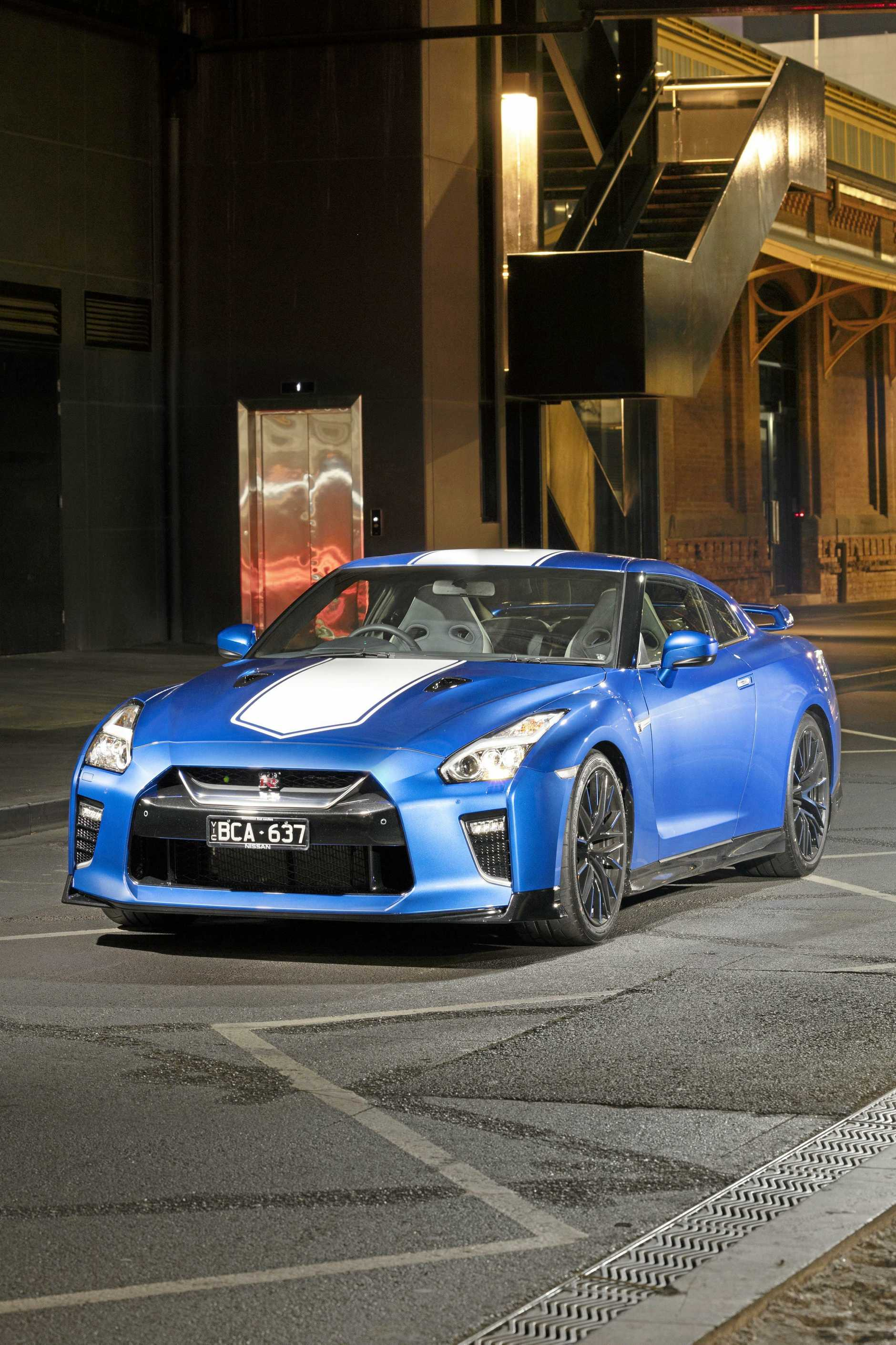Thje 2020 model Nissan GT-R Premium Luxury 50th Anniversary.