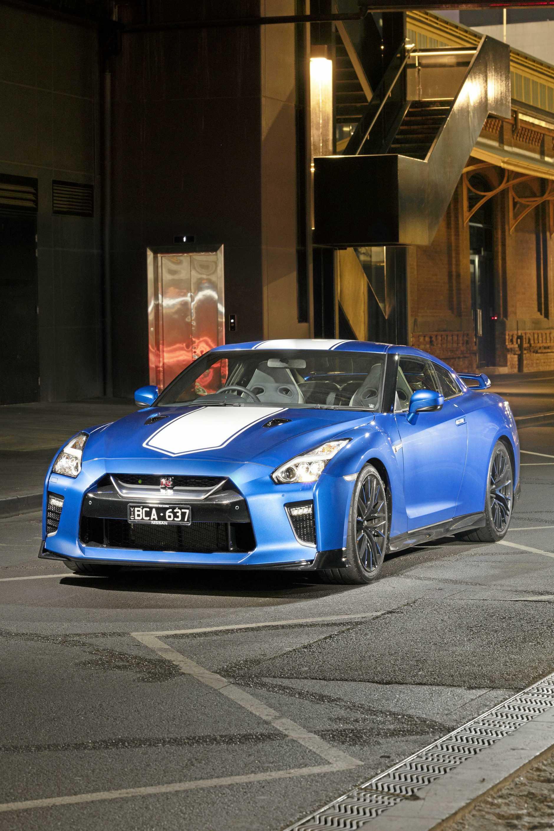 Thje 2020 model Nissan GT-R Premium Luxury 50th Anniversary.