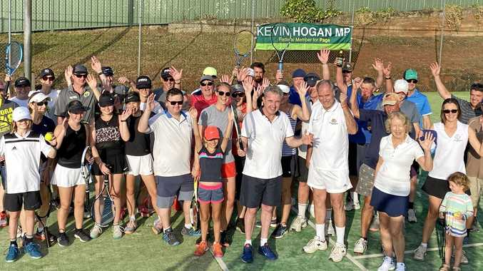 Tennis great visits Clunes