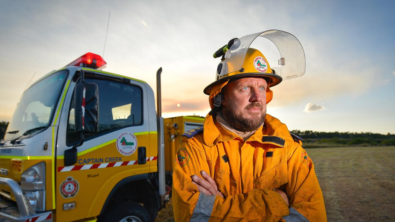 SPEAKING OUT: John Massurit was a member of the now deregistered Captain Creek rural fire brigade. Photo Mike Richards / The Observer