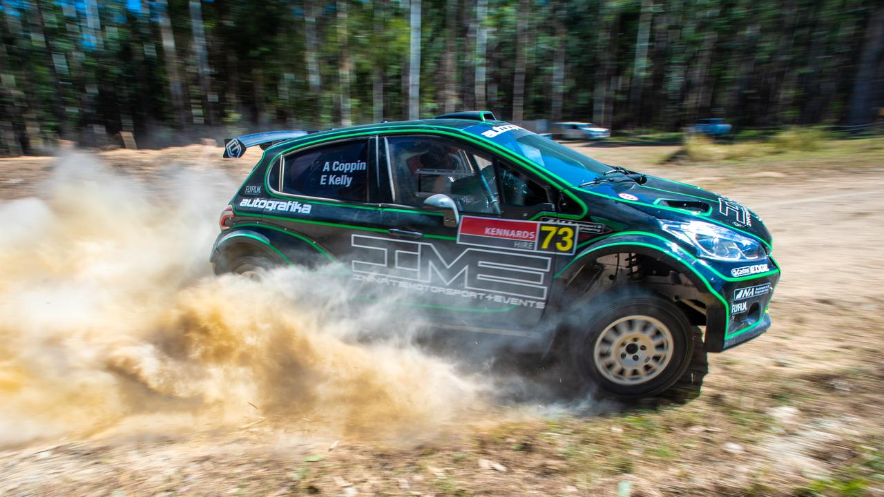 Rally Australia Media day at Wedding Bells.ARC driver Adrian Coppin in his Peugeot 208 AP4. 10 SEPT 2019