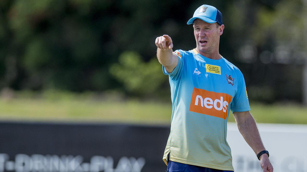 The Gold Coast Titans Head Coach Justin Holbook at pre-season training, Parkwood. Picture: Jerad Williams