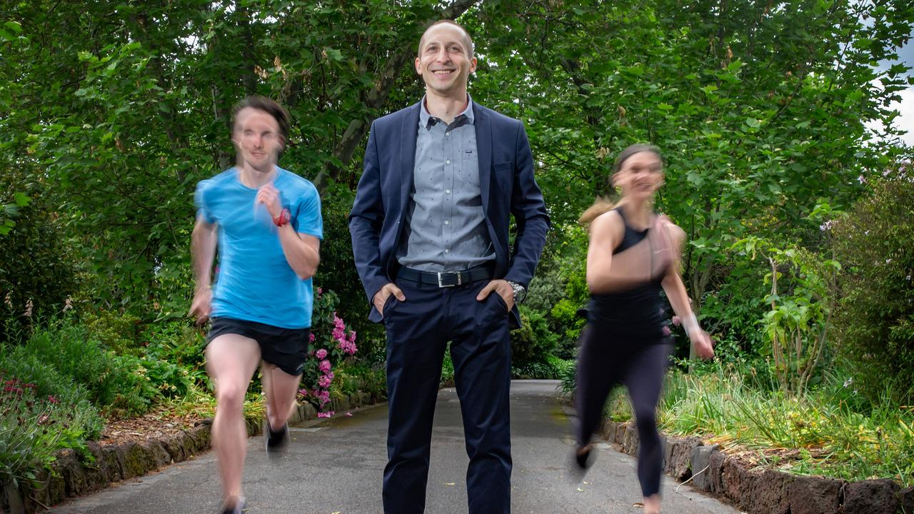New research from Victoria University which suggests running once a week for 50 minutes can save your life. Picture: Sarah Matray
