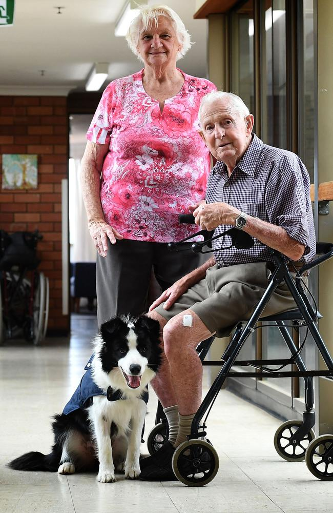 Dot Carmody and Ray Shephard with Molly at Whiddon Kyogle. Picture: Marc Stapelberg