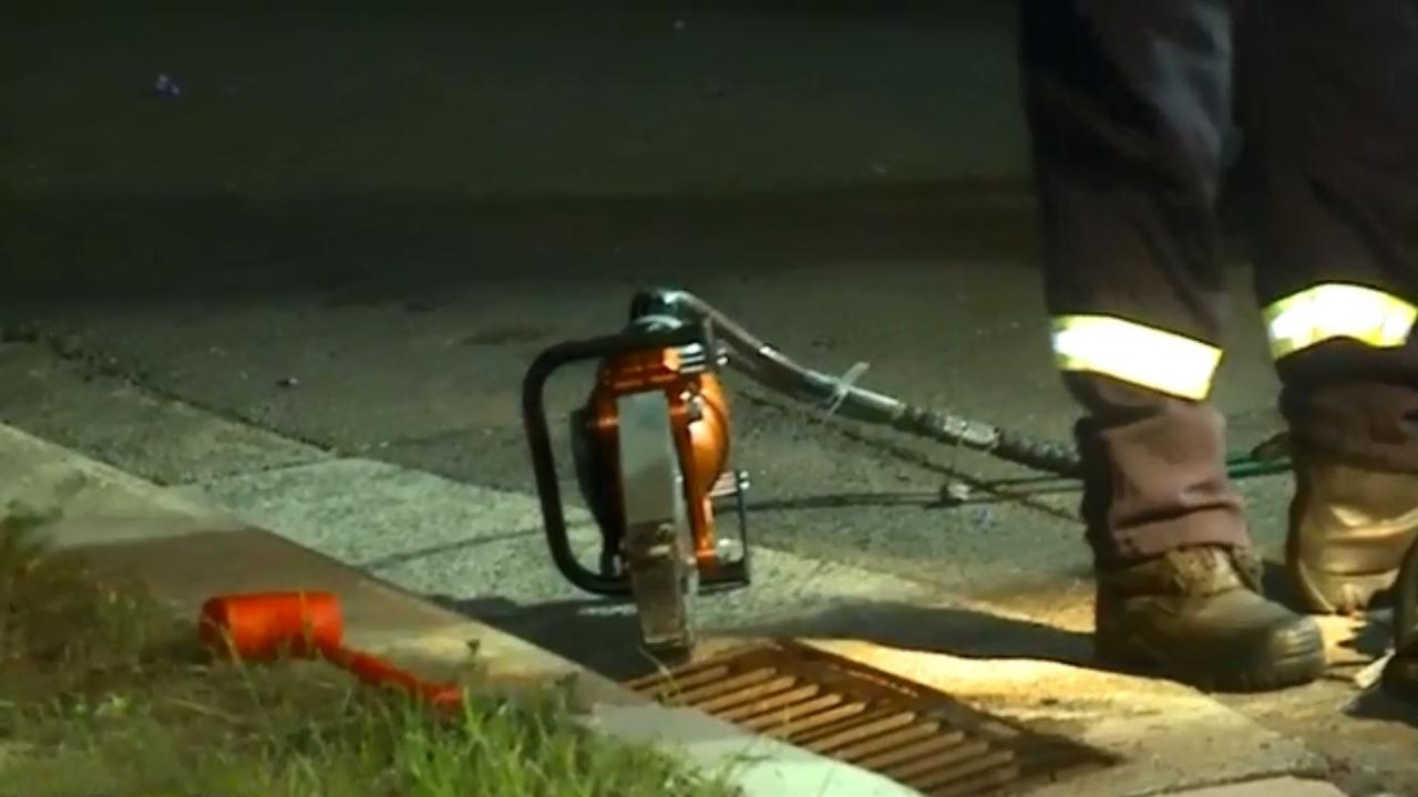 The drain appears to be about half a metre long. Picture: 7 News Sydney