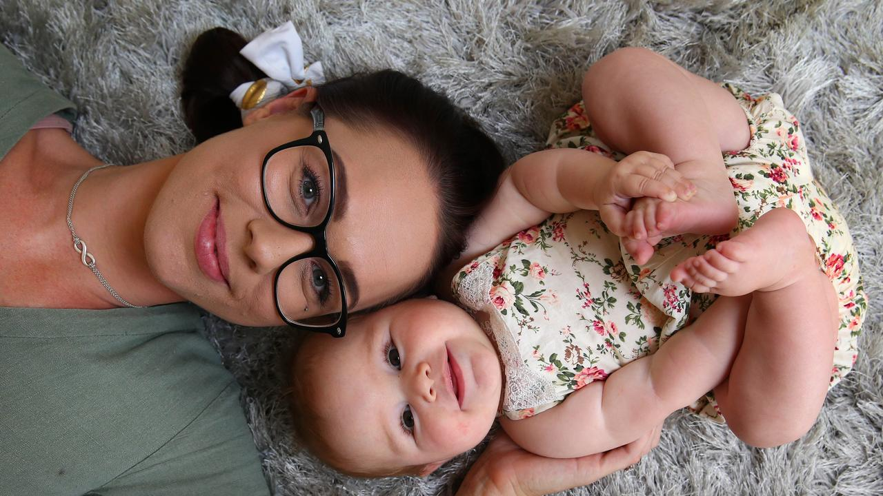 Renee Sparrow with her daughter Summer, 7 months. Picture: Adam Head