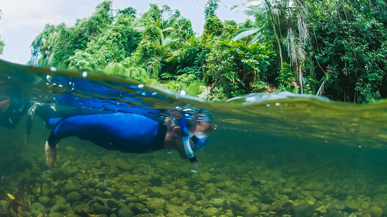 River drift snorkelling. Picture: Contributed