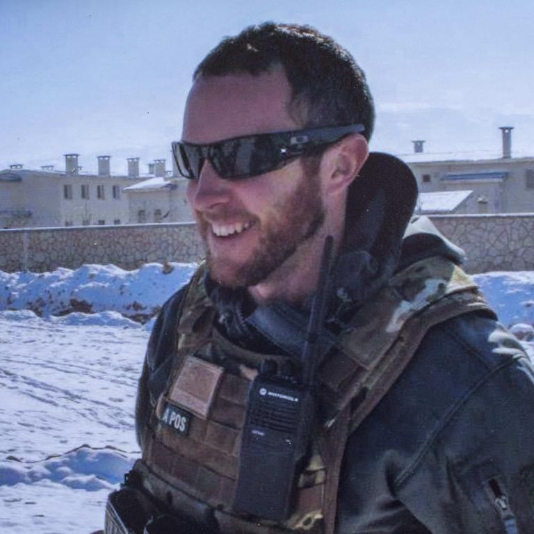 Chris Betts in Afghanistan in 2007.