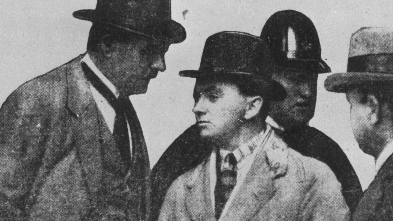 Taylor (centre) died in 1927 in a gun duel with his rival Snowy Cutmore who also died.