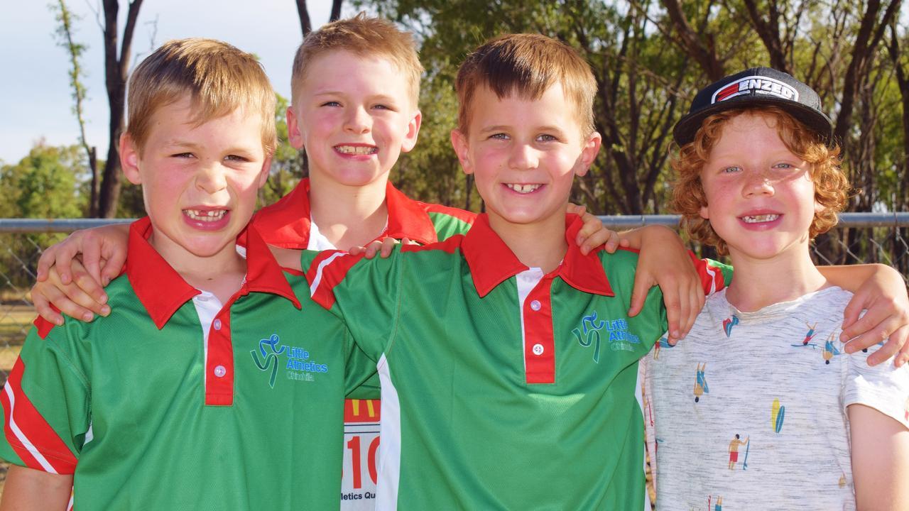 FUTURE STARS: Henry Stone, Nic Lloyd, Riley Naller, & Mac Buchanan. Pic: Peta McEachern