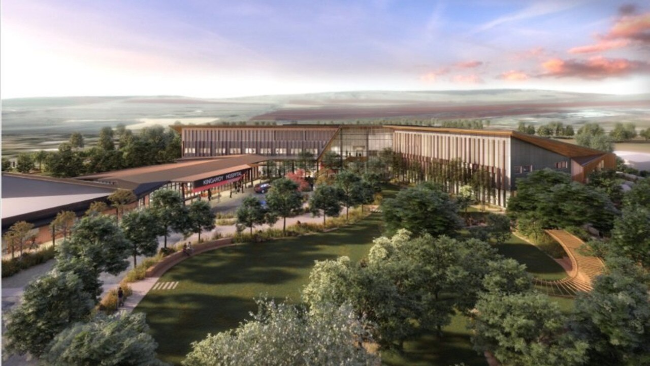 An artist's impression of the new hospital after the redevelopment at Kingaroy.