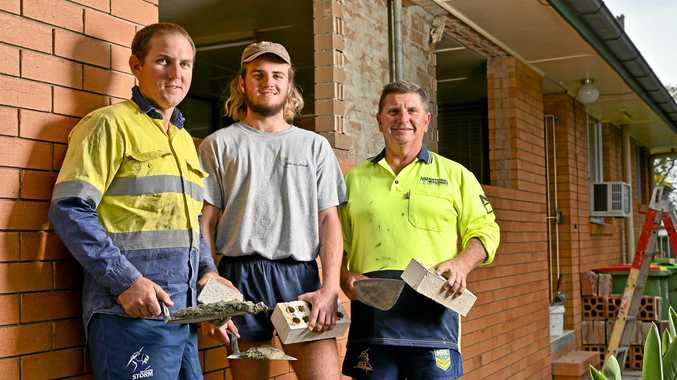 Why brickie's life stacks up for Ipswich family