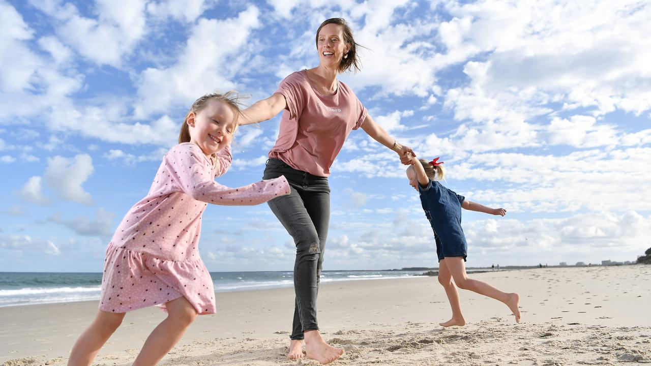 Ellie Degraeve's business Go For Zero turns one this month. Pictured with her children, Grace, 6, and Harper, 4. Photo Patrick Woods / Sunshine Coast Daily.