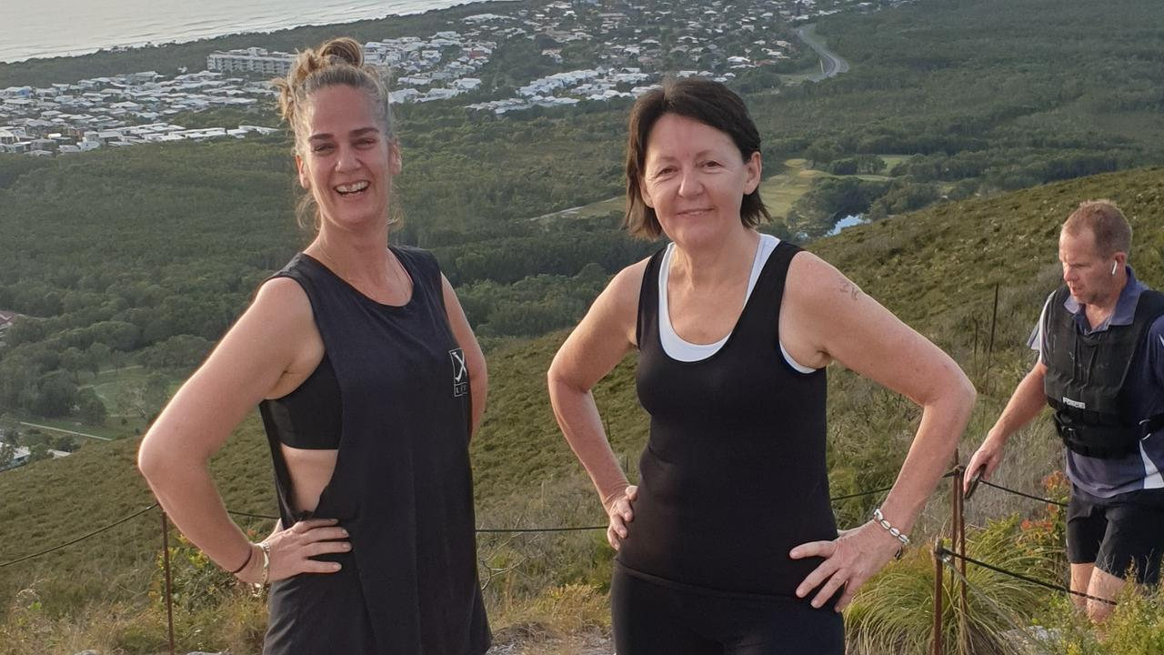 Rach and Murph prepare for their big Africa climb with a crack at Mount Coolum.