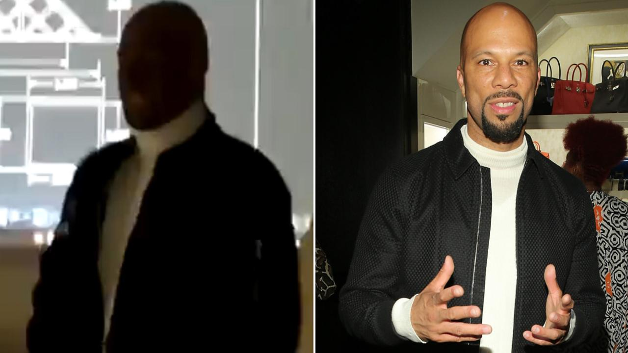 The teacher dressed up as rapper Common. Picture: Twitter/Getty Images