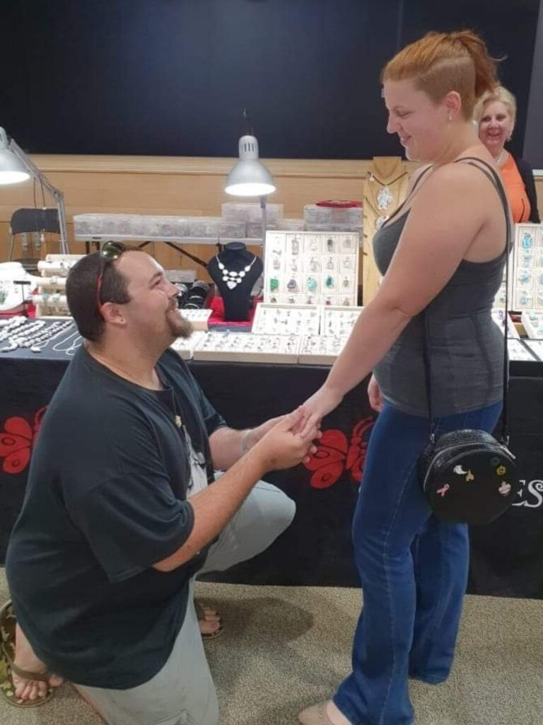 MAN WITH A PLAN: Eddie Leigh proposed to Georgia Churchill at the Bundaberg Gemfair over the weekend.