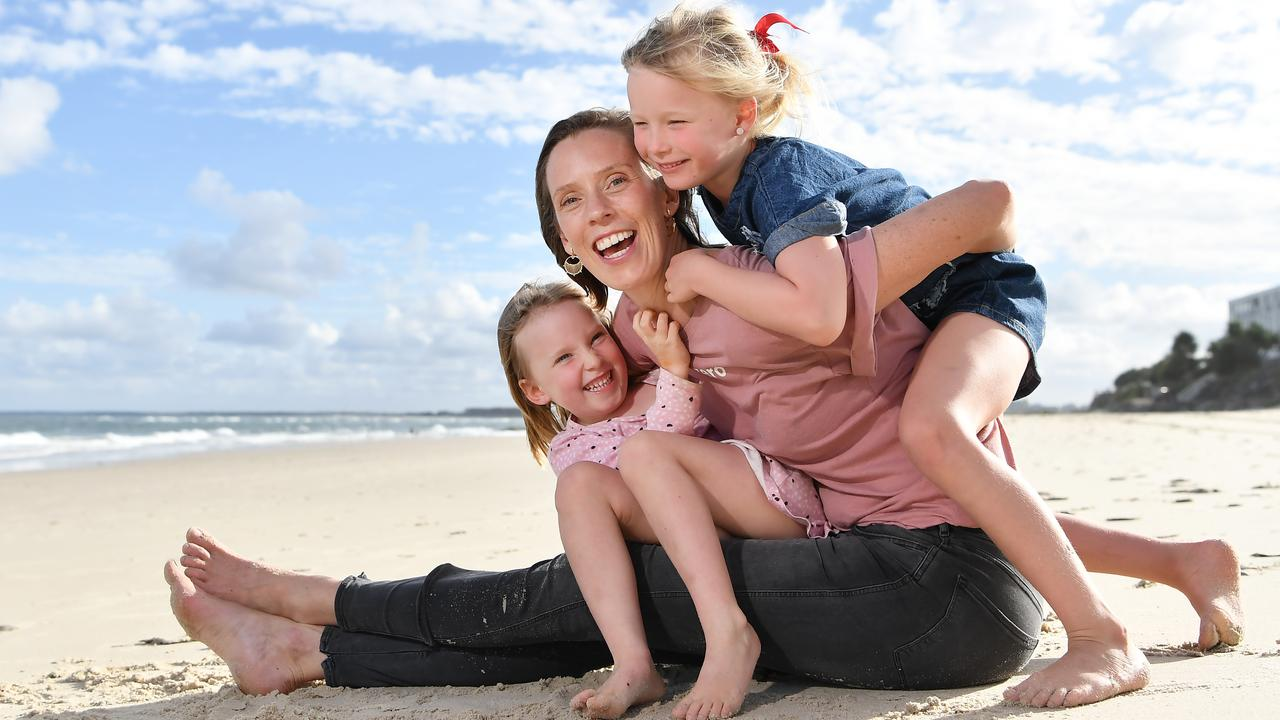 WASTE FREE: Ellie Degraeve's business Go For Zero turns one this month. Pictured with her children, Grace, 6, and Harper, 4. Photo Patrick Woods / Sunshine Coast Daily.